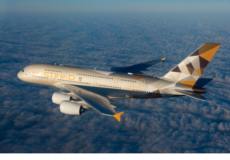 Etihad's A380—the first commercial aircraft with a 3-room cabin.