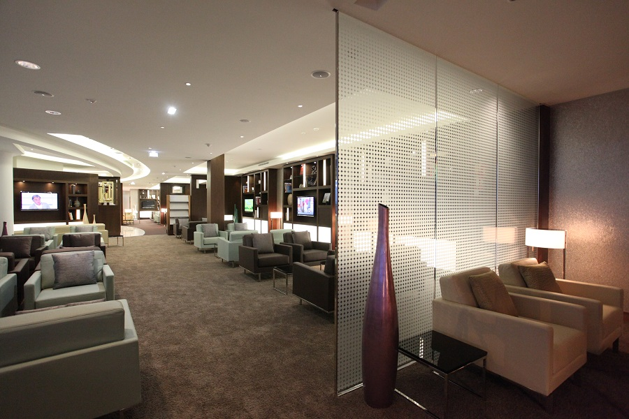 The executive lounge opened last year in Terminal 2 of Charles de Gualle.