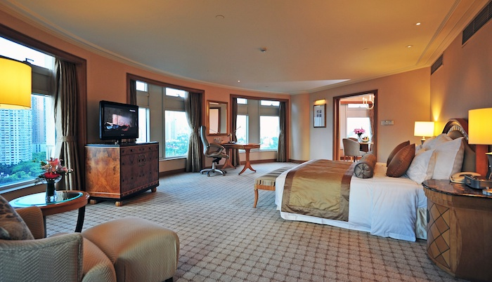 An Executive Suite room with garden views.