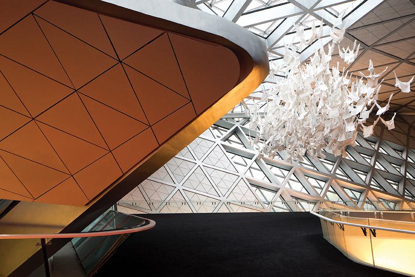 The inside of the city's Zaha Hadid-designed opera house.