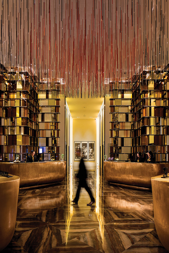 The lobby at the new W Hotel Guangzhou.