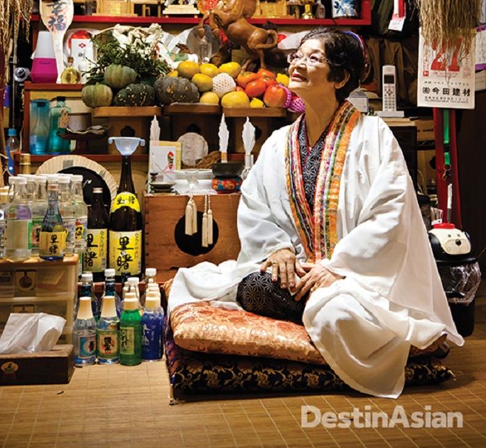 Yuta (shaman) like Sadae Sakae on Amami Oshima help sustain the islands' ancient spiritual beliefs.