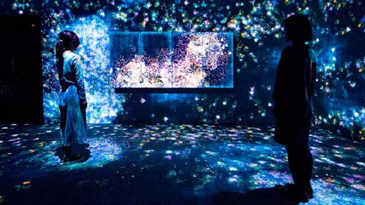 """The virtual environment in """"Flowers and People, Cannot be Controlled but Live Together"""" is inspired by the intersection of human actions and the natural world."""