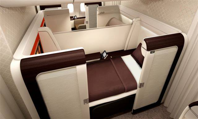 The new Garuda Indonesia First Class on a Boeing 777-300ER.