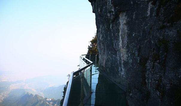 Tianmen Mountain's Walk of Faith in China.
