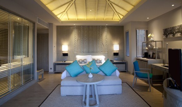 A Grand Deluxe bedroom at the Pullman Phuket Arcadia, Naithon Beach.