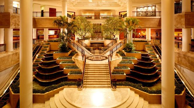 The lobby at the Grand Hyatt Jakarta hotel.