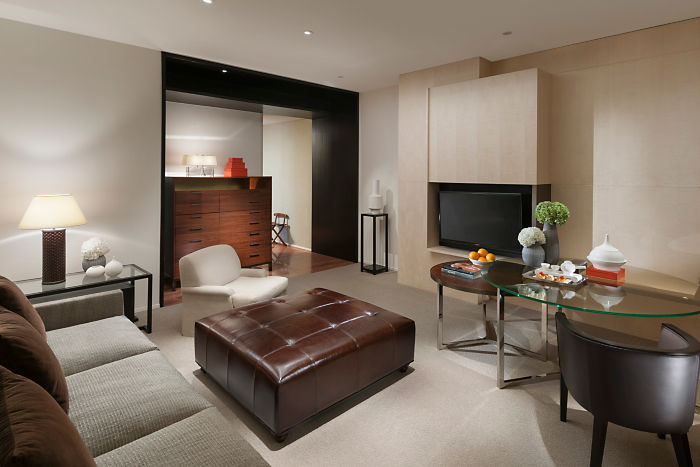 One of the hotel's Tony Chi–designed Premier Suites.