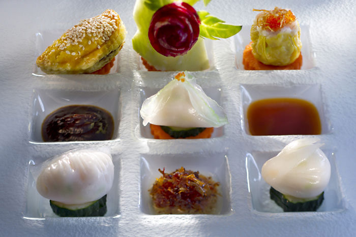 Cantonese delicacies at the Mandarin Oriental Guangzhou.