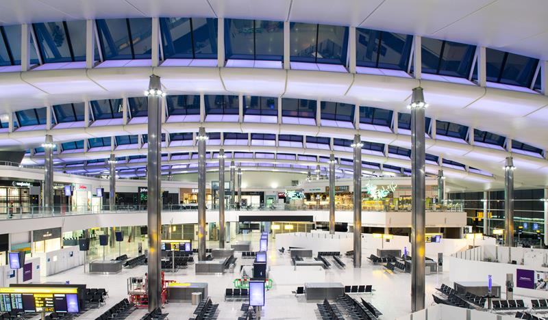 Heathrow Terminal 2 departures.