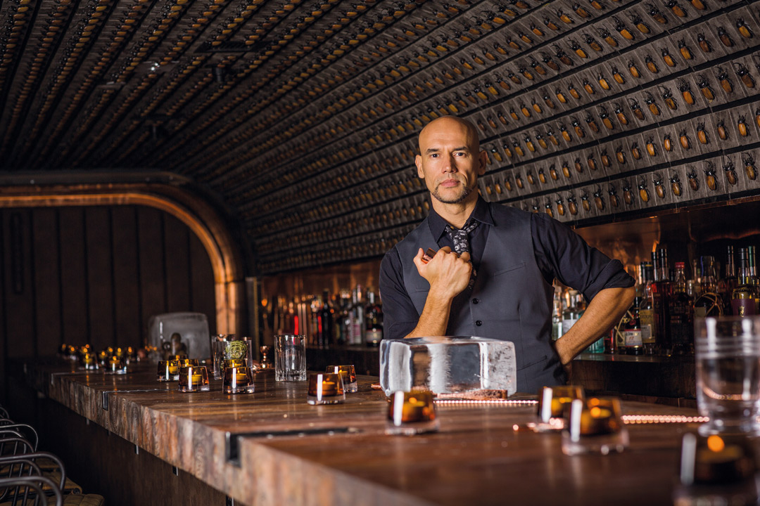 Mixologist extraordinaire Joseph Boroski at his latest cocktail lounge, J.Boroski.