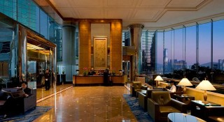 The lobby at the JW Marriott Hong Kong.