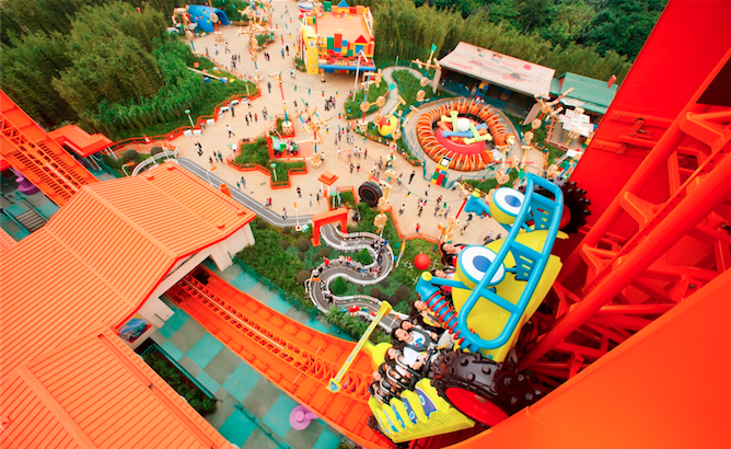 Hong Kong attractions: RC racer at Disneyland's Toy Story park