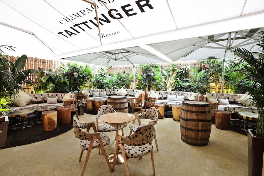 Taste more than 70 rums at the lounge's outdoor patio.