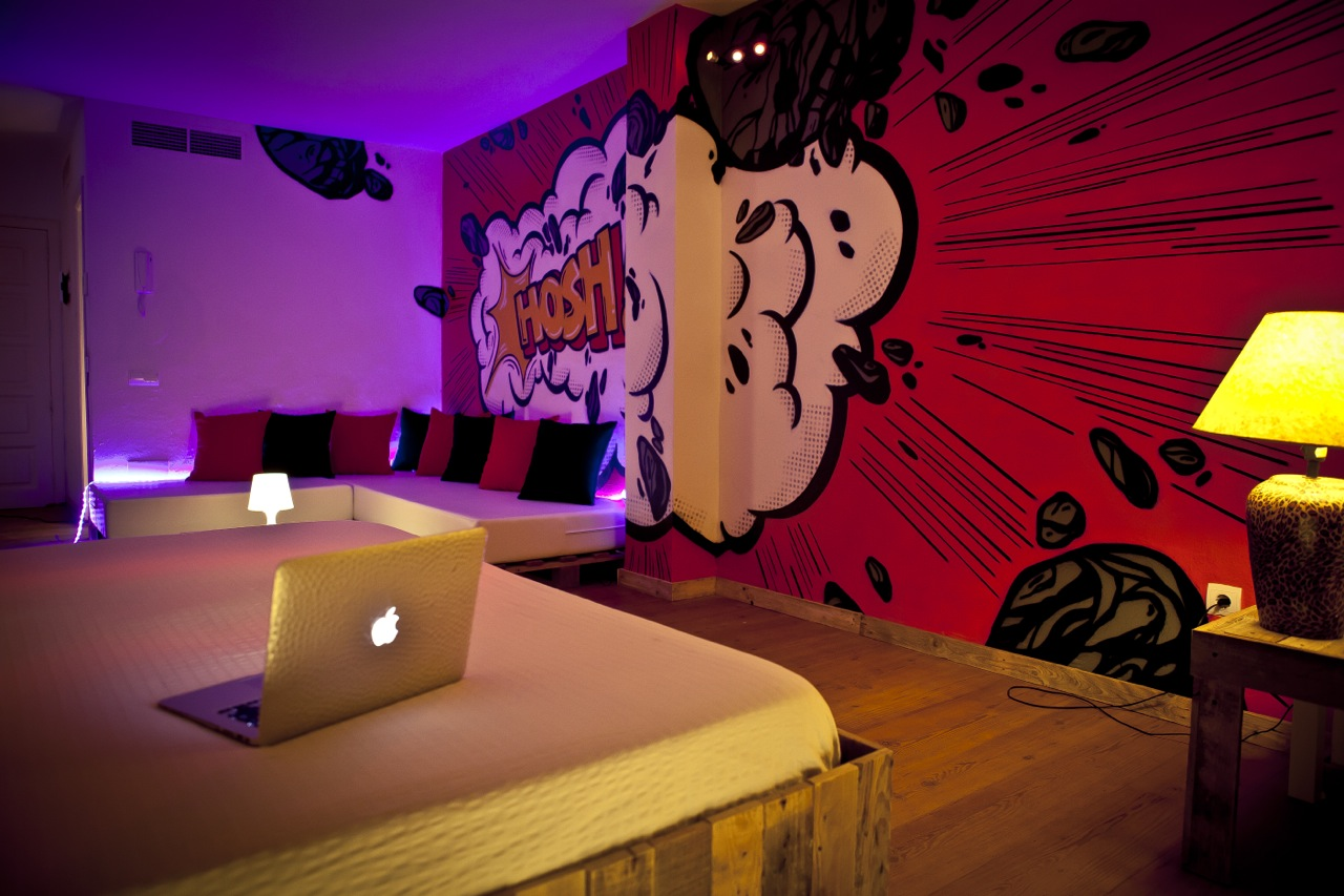 A room at Urban Spaces imagined by the artist, Hosh.