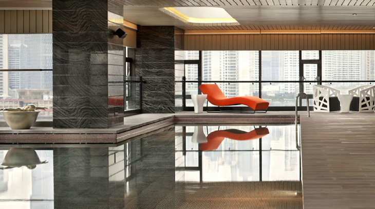 A pool at Hotel Indigo in Shanghai