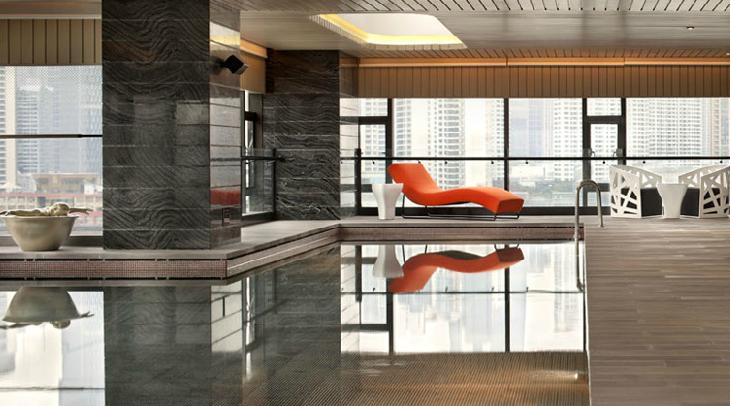 A pool at Hotel Indigo in Shanghai
