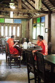 Set in an old Lanna-style wooden house 20 minutes from downtown Chiang Mai, Huen Jai Jong is noted for its authentic northern cooking