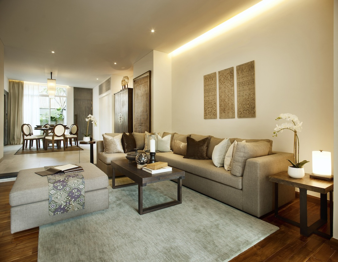 Room for entertaining in the villa's living area.