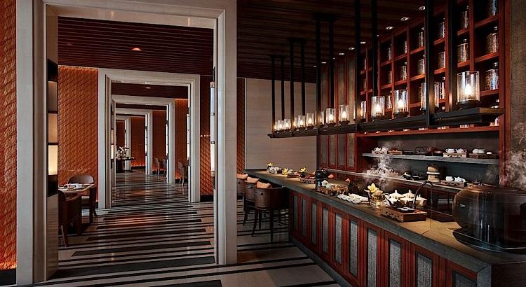 The tea bar at Capella Singapore's restaurant, The Knolls.