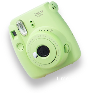 The camera in lime green. All photos are courtesy of the brand featured.