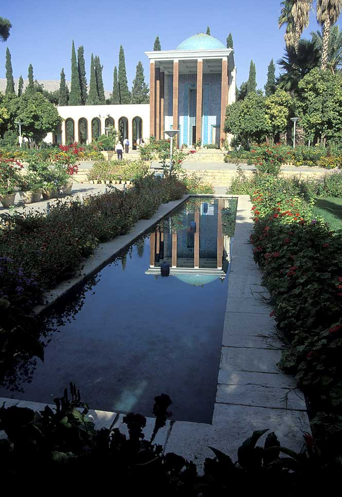 The tomb of the great poet Hafez in Shiraz.