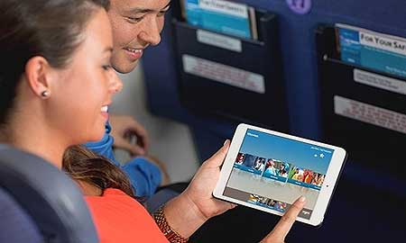 Guests can enjoy iPad minis loaded with music, movies, games, and TV shows.