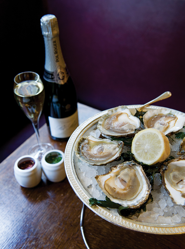 Near London's runway hub of Somerset House, J Sheekey Oyster Bar has an oyster-and-champagne special running throughout the week.