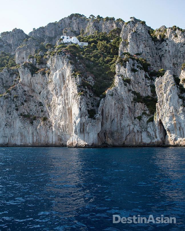 Capri's jagged coastline.