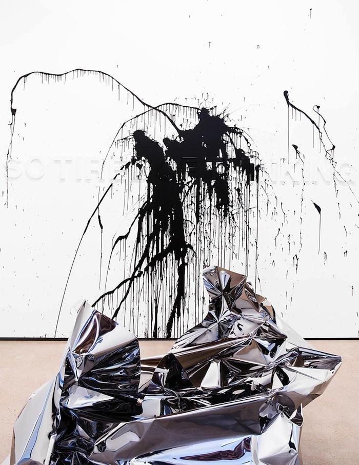 A work by Peruvian artist Aldo Chaparoo at James Kelly Contemporary.