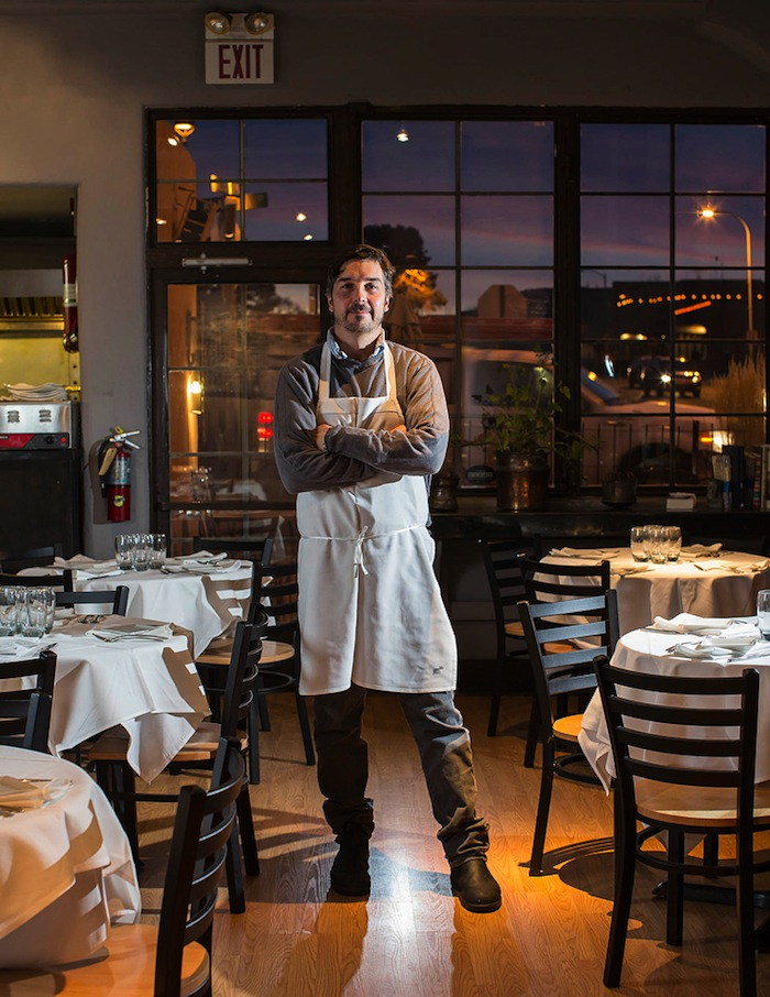 Joseph Wrede at Tomme, the chef's latest restaurant venture.