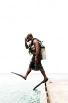 The Dive Master at Palau Pacific Resort.