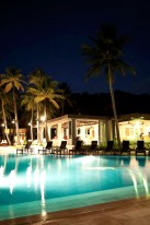 The Resort's Pool at Night.