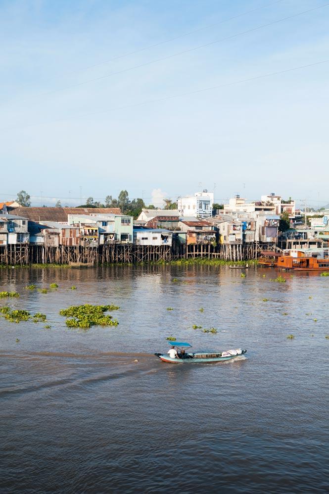 Chau Doc, a Vietnamese town on the Mekong.