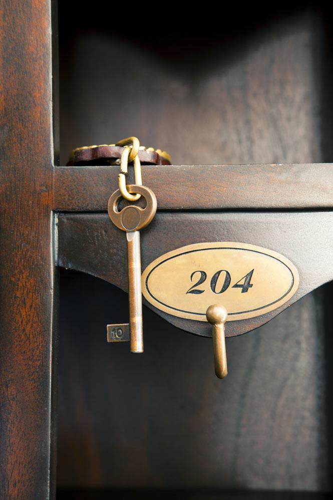 A cabin key.