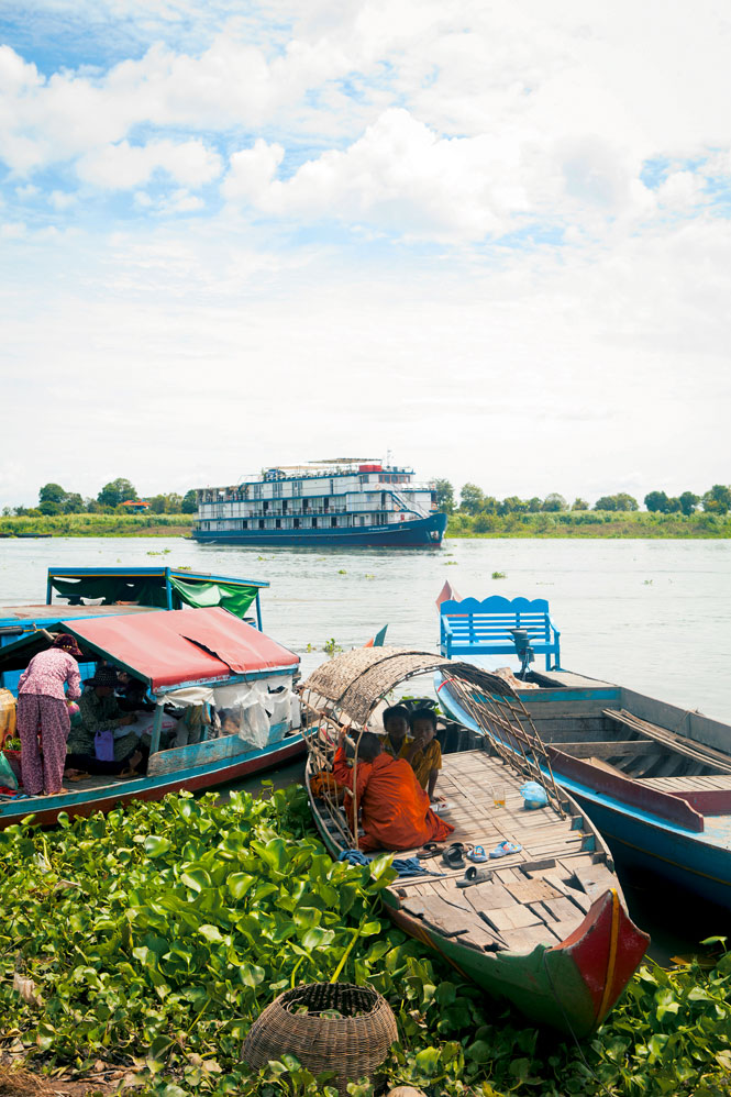 The Jayavarman at Kampong Chhnang, a floating village on Cambodia's Tonle Sap River