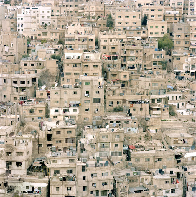 The distinctive limestone architecture of Amman, as seen from the Citadel.