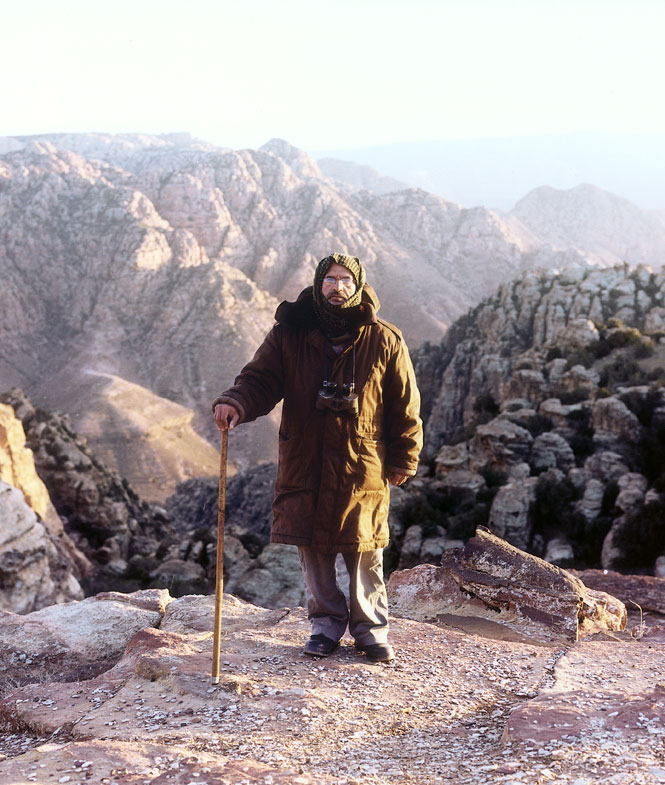 A ranger in the Dana reserve.