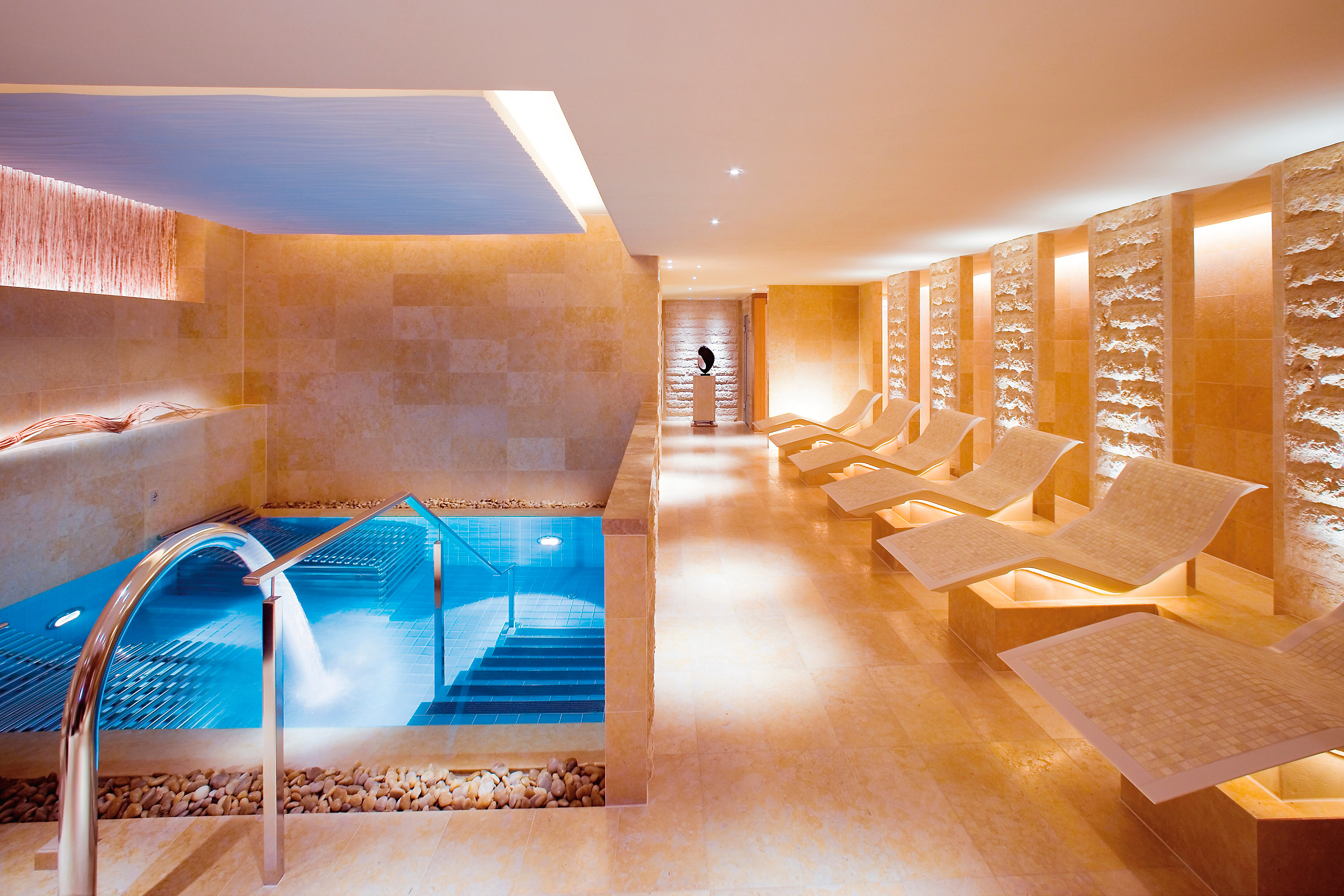 Arrive early to enjoy the spa facilities.