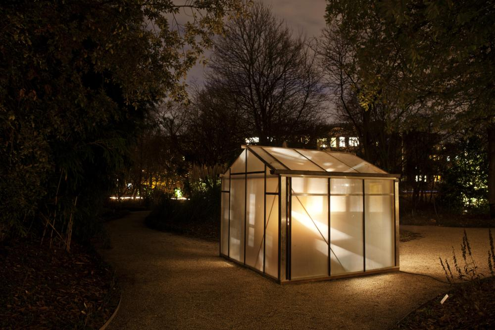 An installation in an Amsterdam park.