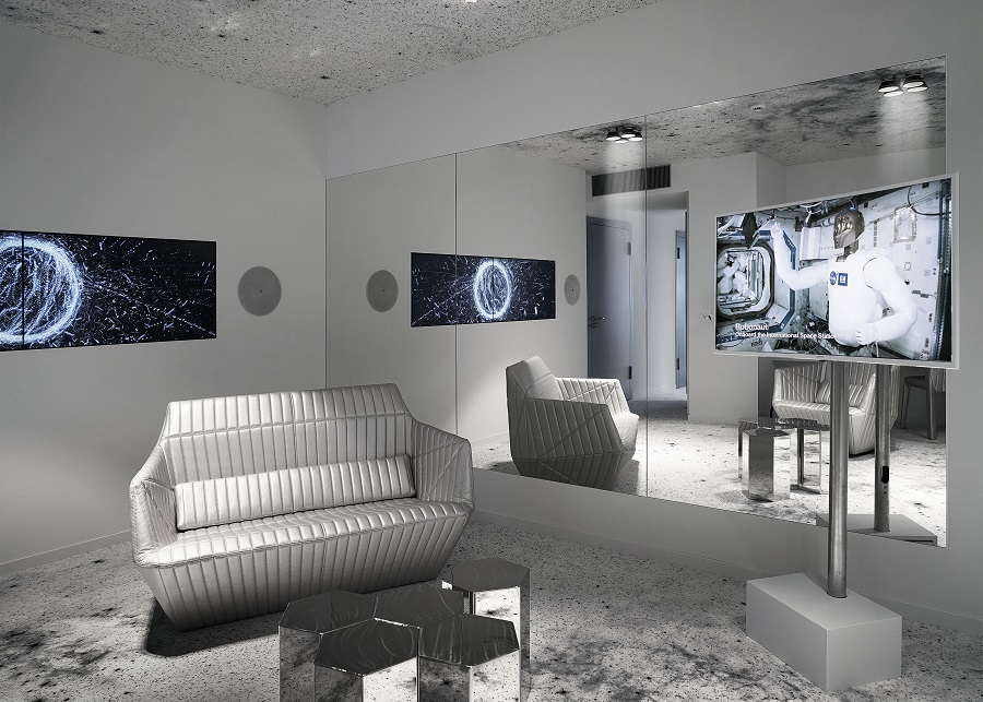 The space station-inspired Space Suite, designed by artist Michael Najjar. (Photo: Michael Najjar)