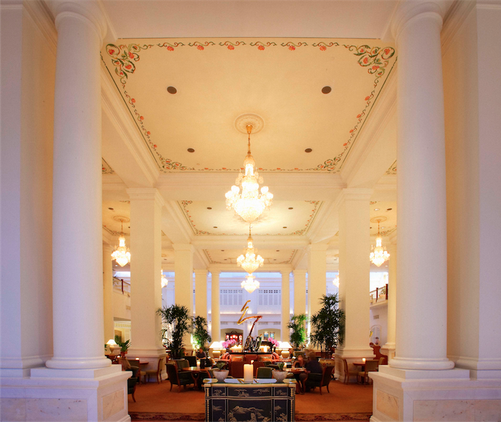 The stately lobby lounge.