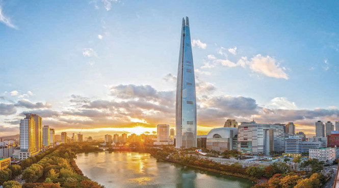 Seoul is now the home of the world's fifth-tallest building. Photo courtesy of the tower.