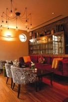 Shanghai restaurants: lounge seating at Kelley Lee's
