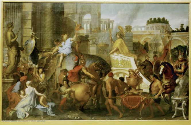 Alexander in Babylon by Charles Le Brun.