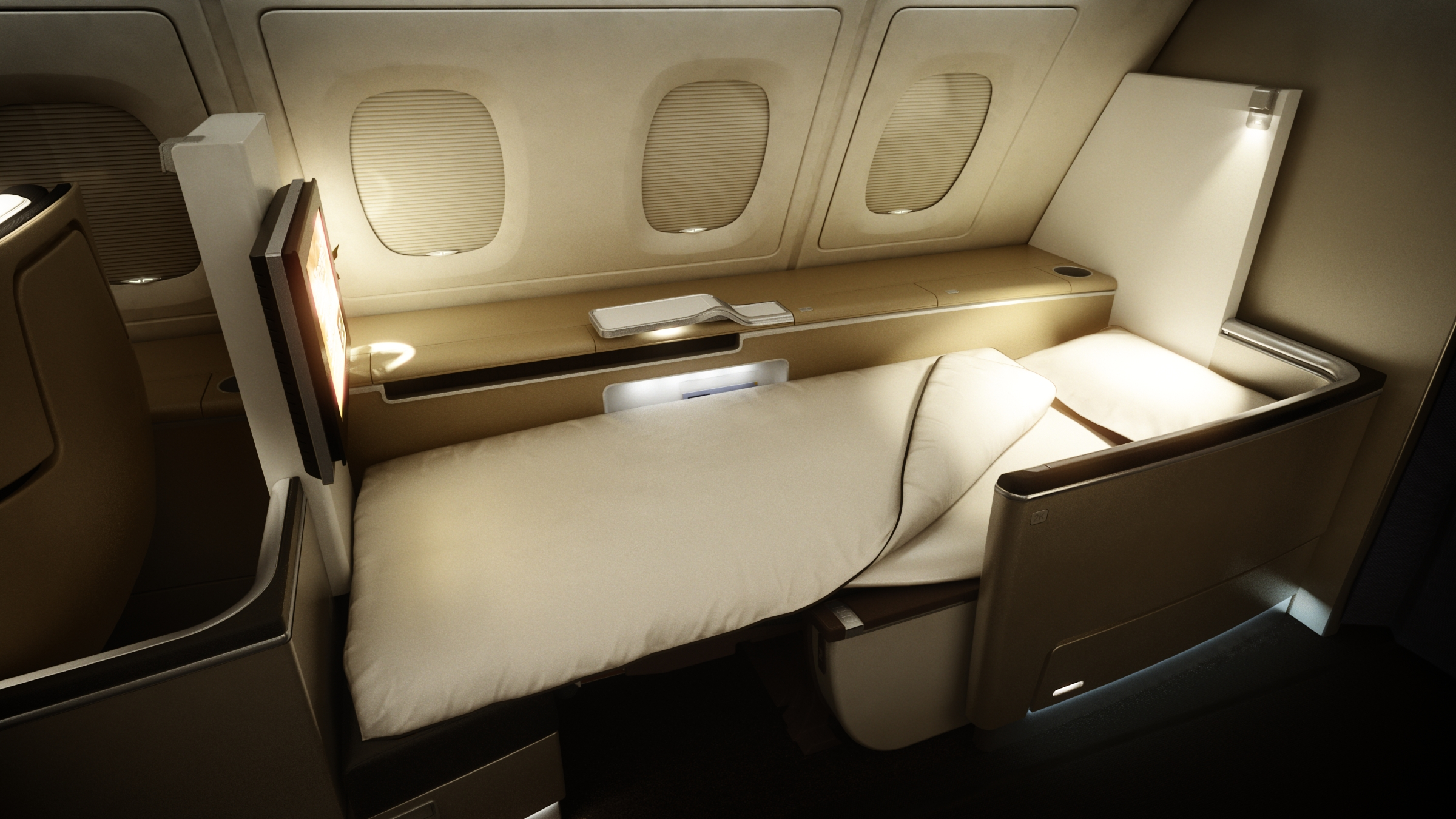 Lufthansa First Class Cabin on its A380.