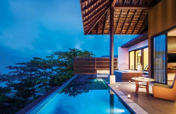 The resort's 80 suites and villas all have their own pools.