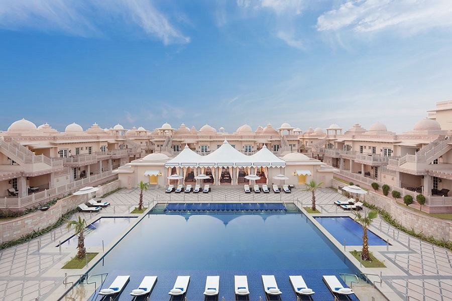 Indian opulence at the ITC Grand Bharat.