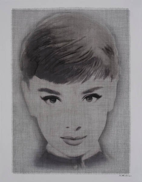 A portrait of Audrey Hepburn by Ma Yan Ling.