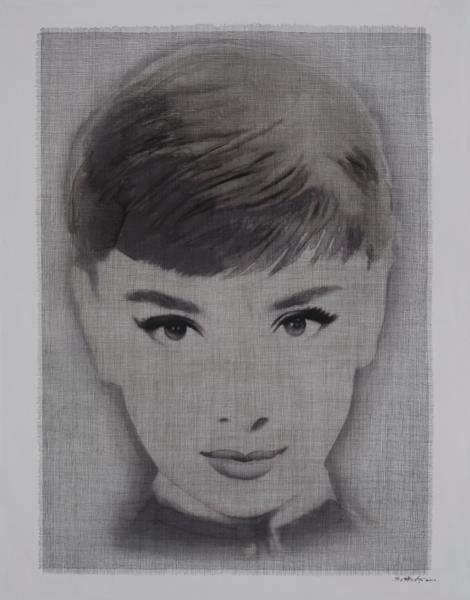 A portrait of Audrey Hepburn by Ma Yan Ling.
